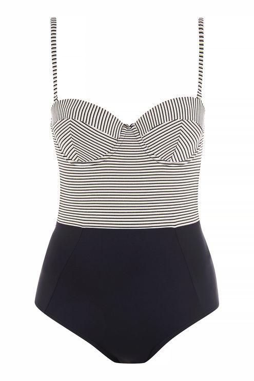 TopshopTopshop Stripe swimsuit