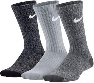Nike Boys 4-20 3-Pack Training Crew Socks