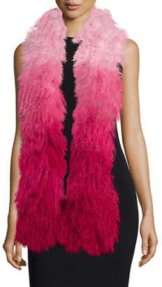 Charlotte Simone Shaggy Fur Gradient Stole
