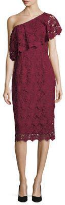 Nanette Lepore Nanette Asymmetric Lace Cocktail Dress