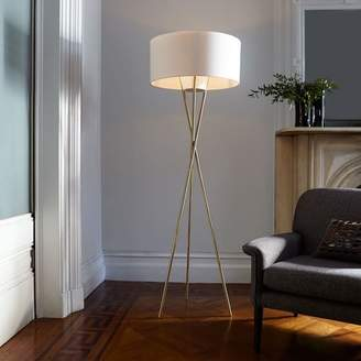 west elm Mid-Century Tripod Floor Lamp - Antique Brass