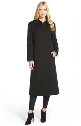 Women's Fleurette Point Collar Long Cashmere Coat $1,795 thestylecure.com
