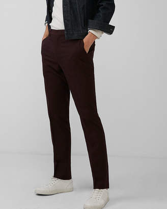 Express Slim Burgundy Dress Pant