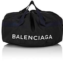 Balenciaga Men's Wheel Small Duffel Bag-Black