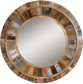 Uttermost Jeremiah Round Wood Mirror