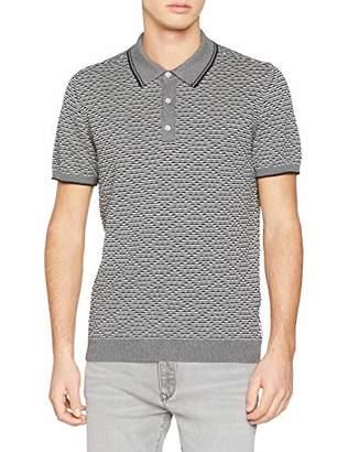 Ben Sherman Men's Tipped Tonal Texture Polo Slim Fit Plain Polo Short Sleeve Polo Shirt,Small (Manufacturer Size:S)