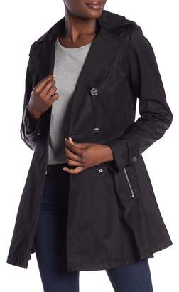 Laundry by Shelli Segal Detachable Hood Trench Coat