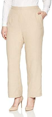 Alfred Dunner Women's Plus Size Proportioned Medium Solid Pant