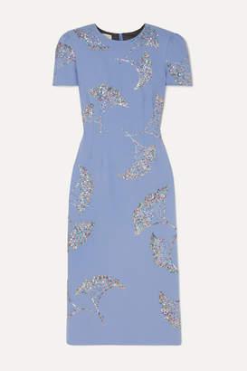 Dries Van Noten Sequin-embellished Crepe Midi Dress - Lilac