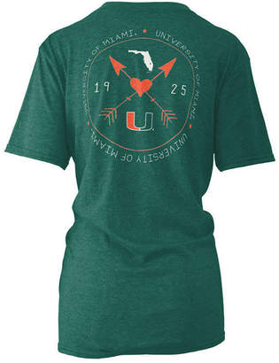 Pressbox Women's Miami Hurricanes Boho Arrow Melange T-Shirt