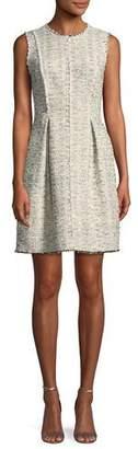 Rebecca Taylor Sleeveless Rainbow Tweed Dress