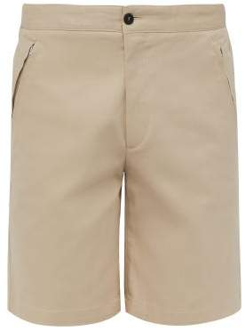 Joseph Stretch Cotton Twill Shorts - Mens - Beige