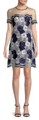 T Tahari Joie Lace Shift Dress