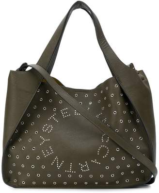 Stella McCartney eyelet logo shoulder bag