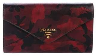 Prada Camouflage Saffiano Wallet