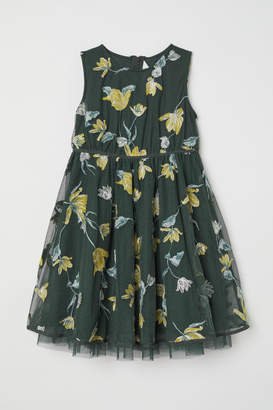 H&M Dress with Embroidery - Green