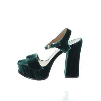 Laurence Dacade Green Velvet Heels