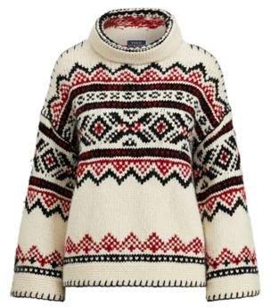 Ralph Lauren Fair Isle Funnelneck Sweater Multi M