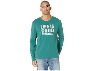Life is Good LIG Rain or Shine Long Sleeve Smooth T-Shirt