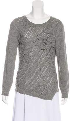 Neiman Marcus Long Sleeve Cashmere Sweater