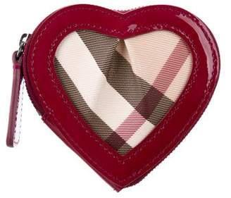 Burberry Nova Check Heart Coin Purse