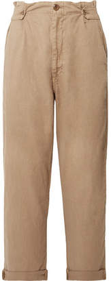 The Great The Explorer Twill Straight-leg Pants - Sand