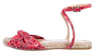 Charlotte Olympia Paisley Ankle Strap Espadrilles