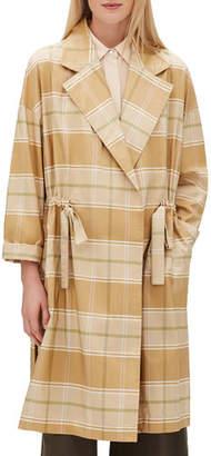 Lafayette 148 New York Vincenza Long-Sleeve Seaport Silk Jacket w/ Adjustable Drawstring