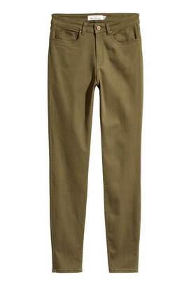 H&M Super Slim-fit Pants - Light blue/striped - Women