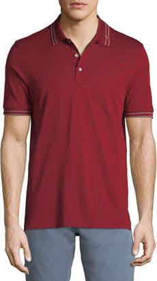 Salvatore Ferragamo Men's Tipped Cotton Polo Shirt