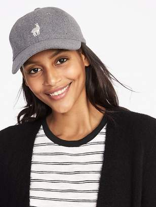 Old Navy Llama-Graphic Felt Baseball Cap for Women