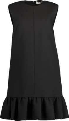 MSGM Abito Sleeveless Ruffle Swing Dress