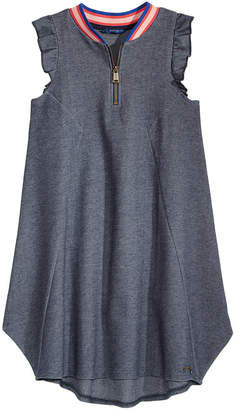 GUESS Knit Zipper Dress, Big Girls