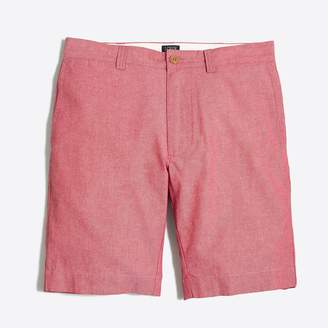 "J.Crew 9"" red chambray Gramercy short"