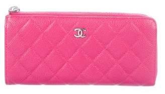 Chanel Caviar Zip-Around Wallet
