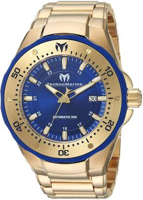 Technomarine Men's 'Manta' Automatic Stainless Steel Casual Watch, Color Gold-Toned (Model: TM-215096)