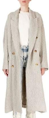 Isabel Marant Habra Oversized Alpaca/Wool Boucle Knit Coat