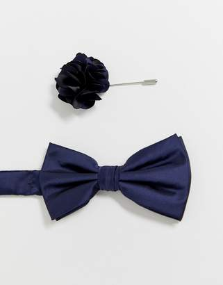 44301432ac09 Ben Sherman bow tie and lapel pin set