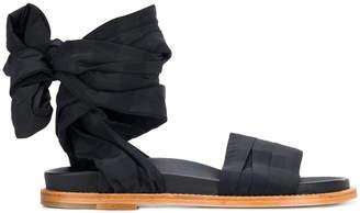 Marques Almeida Marques'almeida checked wraparound sandals
