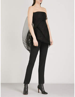 Rick Owens Twirl corseted tulle top