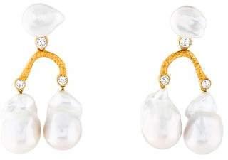 Celine Baroque & Crystal Pearl Hoops