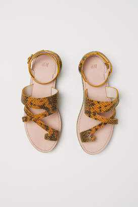 H&M Leather Sandals - Yellow