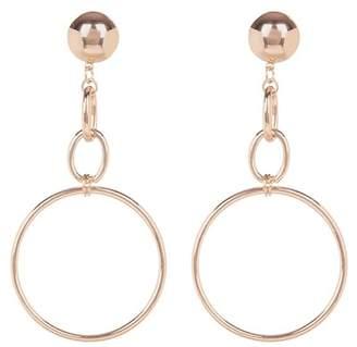 Shashi Mega Statement Chain Drop Hoop Earrings