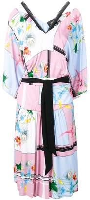 Class Roberto Cavalli floral print midi dress