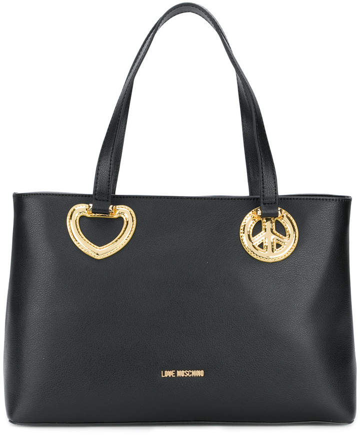 love moschino handtasche mit herz motiv damen. Black Bedroom Furniture Sets. Home Design Ideas