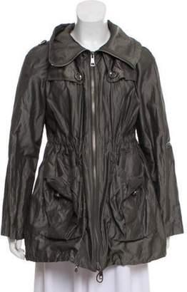 Burberry Collared Metallic Jacket Grey Collared Metallic Jacket