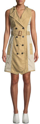 Derek Lam 10 Crosby Sleeveless Belted Trench Dress