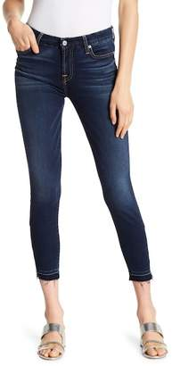 7 For All Mankind The Ankle Released Hem Zipper Skinny Jeans
