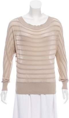 Maison Margiela Silk-Blend Long Sleeve Sweater