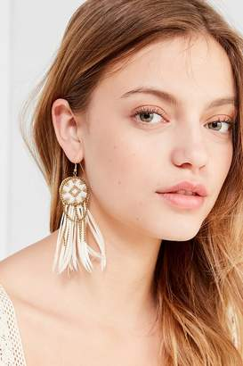 Fiona Paxton Beaded Feather Statement Earring